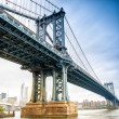 View of Manhattan Bridge on a overcast spring day - New York Cit — Stock Photo #55552231