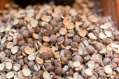 Nuts on a market stand — Stock Photo