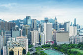 Skyline of Hong Kong on a spring day — Stock Photo