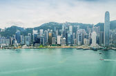 Hong Kong panoramic skyline — Stock Photo