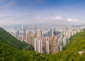 Panoramic view of Hong Kong cityscape — Stock Photo