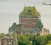 Magnificent  Quebec Castle — Foto Stock