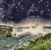 Niagara Falls at night — Stock Photo