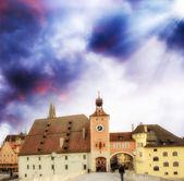 Regensburg city skyline — Stock Photo