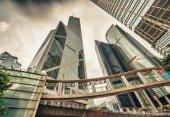 Hong Kong downtown skyline — Fotografia Stock