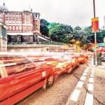 Traffic light trails — Stock Photo #57426781