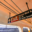 Exit sign in Manhattan subway — Stock Photo #58754345
