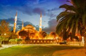 Amazing night view of Blue Mosque — Стоковое фото