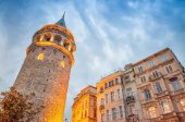 Stunning structure of Galata Tower, Istanbul — Stock Photo