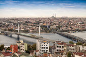 New Galata and Golden Horn Bridge — Zdjęcie stockowe