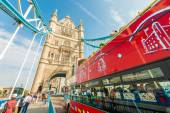 View of a London double - decker bus — Stock Photo