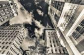 Drapacze chmur manhattanu w nocy — Zdjęcie stockowe