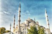 The Blue Mosque on a beautiful sunny day — Stockfoto