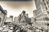 Buildings and roof garden in Manhattan. — Stock Photo