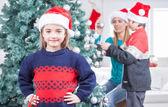 Family celebrating Christmas — Stock Photo