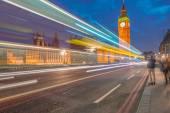Traffic on Westminster Bridge — Zdjęcie stockowe
