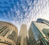 Canary Wharf skyline, business district of London — Stockfoto