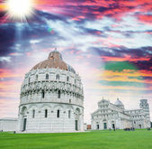 View of Square of Miracles, Pisa — Stockfoto