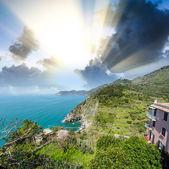 Stunning seascape of Cinque Terre. — Stock Photo
