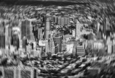 Motion blurred image of New York buildings — Stockfoto