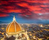 View at sunset from Giotto Campanile — Stock Photo