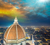 View from Campanile in Piazza Duomo — Stock Photo