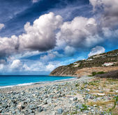 Caribbean beach of Saint Maarten — Stock Photo