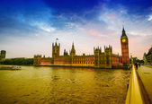 Houses of Parliament at dusk, London — Stock Photo