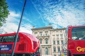 Modern double decker buses in London — Stock Photo