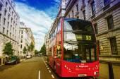 Modern double decker bus in London — Stock Photo