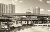 Sunny roads of Miami, Florida — Stok fotoğraf