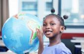 Afro american girl at school — Stock Photo