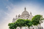 Sacred Heart Cathedral in Montmartre — Stock Photo