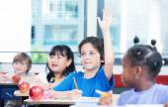 Multiracial classroom primary school. — Stock Photo