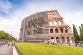 Facade of Colosseum in Rome — Stock Photo