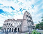Colosseum amphitheatre, Rome — Stock Photo