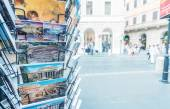 City postcards on the streets — Stock Photo