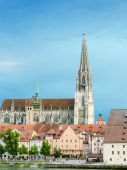 Architecture of Regensburg, Germany — Stock Photo