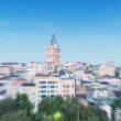 Blurred zoomed view of Galata tower — Stock Photo #62946289