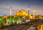 Night view of Hagia Sophia — Stock Photo