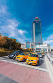 Taxis near Dolmabahce area — Stock Photo