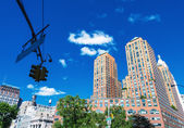 Union Square buildings in New York — Stock Photo