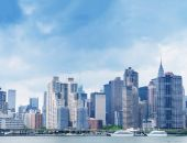 Skyline de manhattan midtown — Foto de Stock