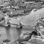 Aerial view of Tower Bridge, London - UK — Stock Photo #63613821