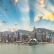 Sunset skyline of Hong Kong business district — Stock Photo #64825501