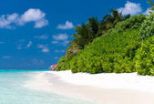 Awesome beach of Maldives. White sand and turquoise waters — Stock Photo