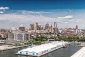 Aerial view of West Side Manhattan — Stock Photo