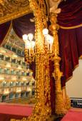 Interior of La Fenice Theatre. Teatro La Fenice — Stock Photo
