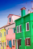 Colorful homes of Burano — Foto de Stock