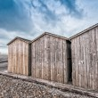 Wooden Cabins along the ocean — Stock Photo #72169409